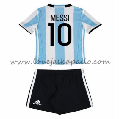 Jalkapallo Pelipaidat Lasten Argentiina 2016 Lionel Messi 10 Pelipaita Koti Pitkähihainen
