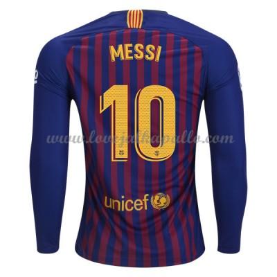 Barcelona Jalkapallo Pelipaidat 2018-19 Lionel Messi 10 Pelipaita Koti Pitkähihainen