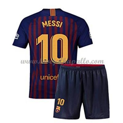Jalkapallo Pelipaidat Lapsille Barcelona 2018-19 Lionel Messi 10 Pelipaita Koti