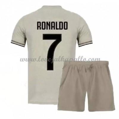 Jalkapallo Pelipaidat Lapsille Juventus 2018-19 Cristiano Ronaldo 7 Pelipaita Vieras