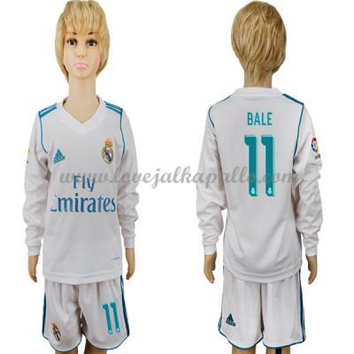jalkapallo pelipaidat lapsille Real Madrid 2017-18 Gareth Bale 11 Pelipaita Koti Pitkähihainen
