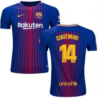 Barcelona Jalkapallo Pelipaidat 2017-18 Philippe Coutinho 14 Pelipaita Koti